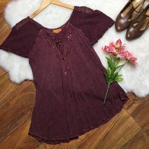 Sakkas purple boho blouse